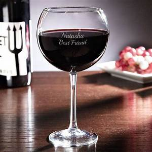 Personalized, Red, Wine, Glass