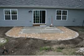 Adding Pavers To Concrete Patio Decorate Paver Patio Easy Landscape Ideas Pinterest