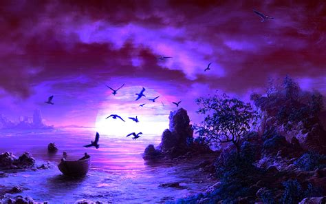 hd cool beautiful water purple purple backgrounds wallpaper 1920x1200 22422