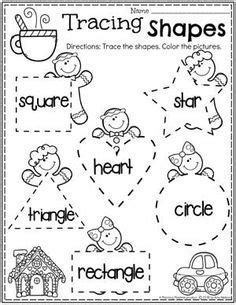 preschool shapes worksheets ice cream theme