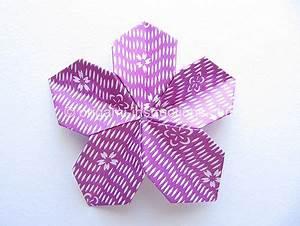 Origami Fleur Coeur D étoile : origami modulaire fleur 5 p tales crochet pinterest ~ Melissatoandfro.com Idées de Décoration