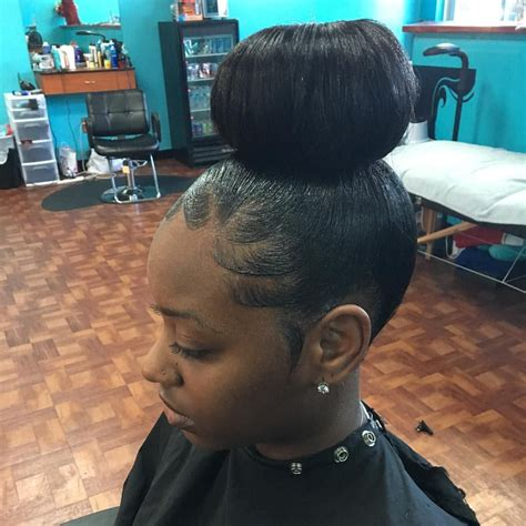 made bun no donut detroitstylist buns donuts hair style and black