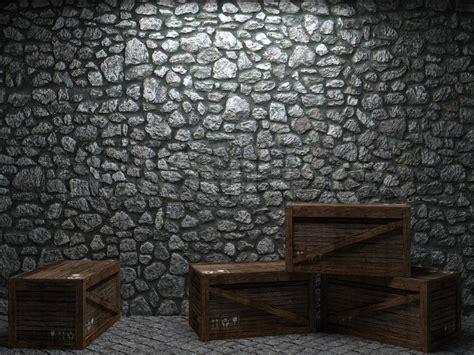 illuminated stone wall  boxes    graphics
