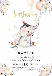 Save The Date Download Template Lovely Elephant Birthday Invitation Template Free