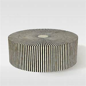stripe inlay silver and black coffee table With black and silver coffee table