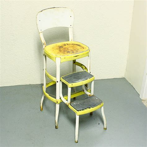 Cosco Step Stool Chair Vintage by Vintage Stool Step Stool Kitchen Stool Cosco Chair