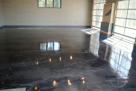 how to re epoxy a garage floor designer metallic epoxy garage floor modern seattle