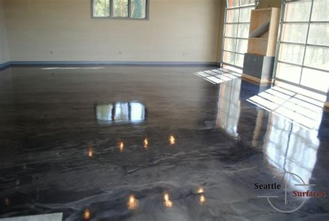 Designer Metallic Epoxy Garage Floor   Modern   Seattle