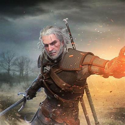 Geralt Witcher Rivia Wallpapers Hearts Backgrounds Wallpaperaccess