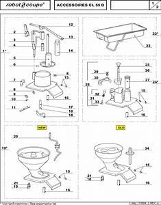 Robot Coupe Cl55 D Accessories Part 1 For Vegetable