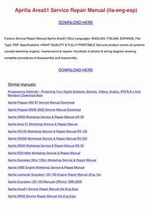 Aprilia Area51 Service Repair Manual Ita Eng By Harryfried