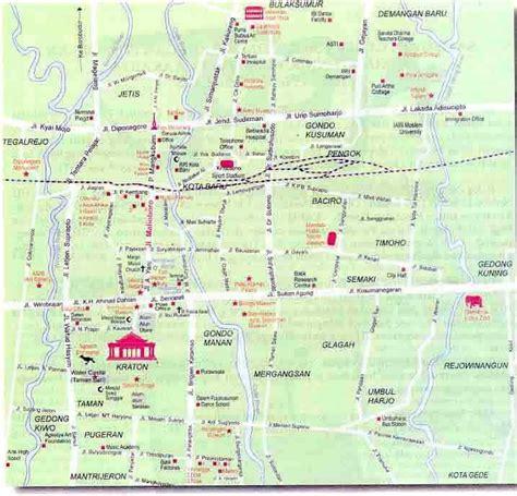 takjub indonesia peta kota yogyakarta