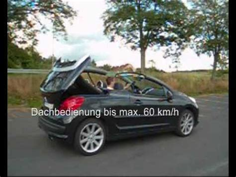 peugeot 207 cc tuning peugeot 207 cc tuning remote roof opening 30 km h