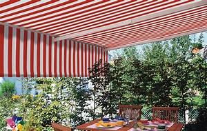 markisen raumausstattung fritz und sohn With markise balkon mit tapete in paneeloptik