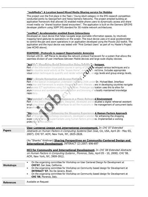 college internship resumes sles top resume career