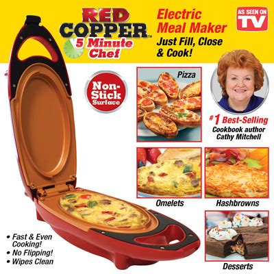 red copper  minute chef electric cooker  collections
