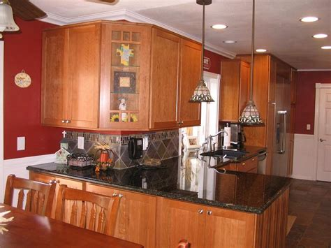 pics for gt light cherry kitchen cabinets