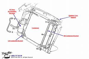1981 Corvette Ac Condenser  U0026 Brackets Parts