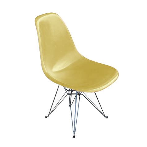 herman miller eames fiberglass side shell chair yellow ebay
