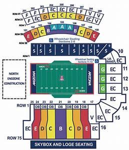 Pac 12 Football Stadium Seating Charts College Gridirons