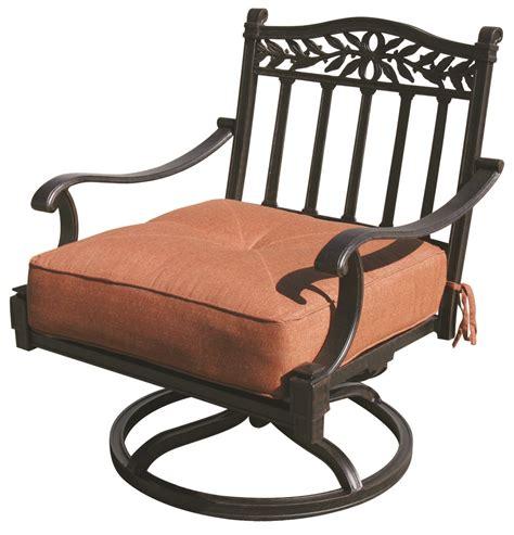 patio furniture cast aluminum seating rocker swivel