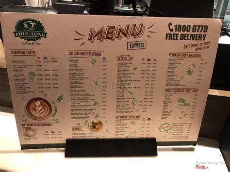 Yi dian jiu dao jia;get home at one point; Phúc Long Coffee & Tea - Golden Plaza ở Quận 5, TP. HCM | Menu Thực đơn & Giá cả | Phúc Long ...