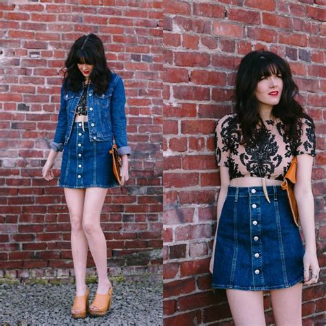 Denim Skirt Outfit Ideas for Summer - Outfit Ideas HQ