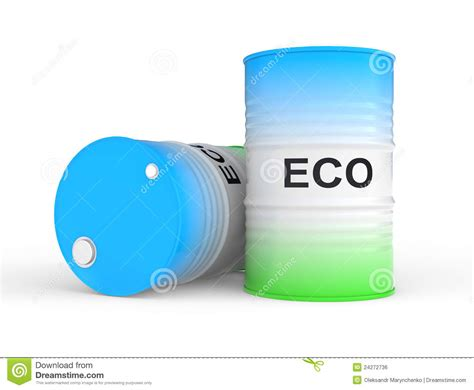 Eco Fuel by Barrel With Eco Fuel Royalty Free Stock Image Image