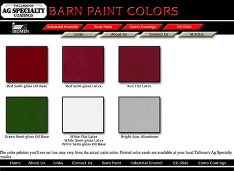 paint colors for barns the reader