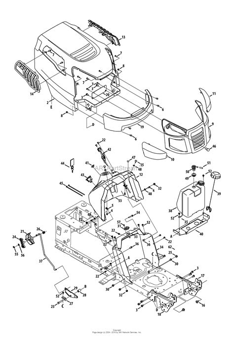 Sears Garden Tractor Parts by Mtd 13bl78st099 247 288853 Lt2000 2013 Parts Diagram