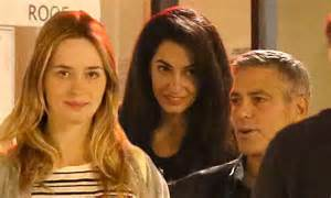soulmate wedding ring george clooney amal alamuddin date emily blunt
