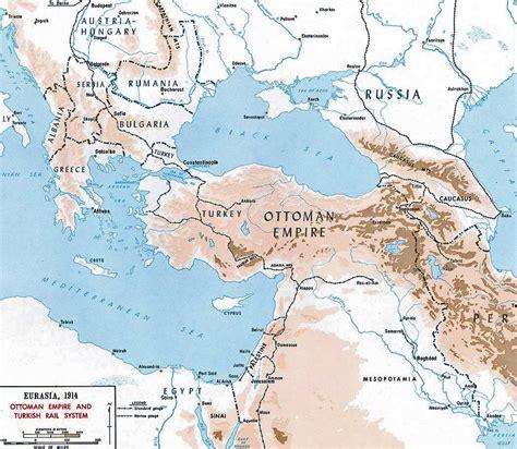 Map Of Ottoman Empire 1914 - map of the ottoman empire 1914