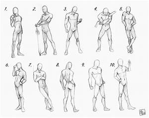 Male poses chart by Aomori on DeviantArt