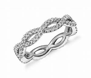 infinity twist eternity ring in 14k white gold 1 2 ct tw With infinity twist wedding ring
