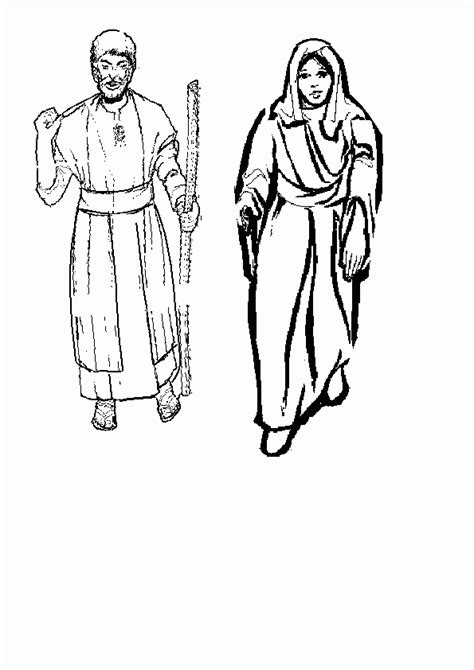 coloring page  joesph  mary coloring home