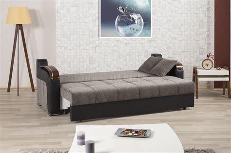 divan deluxe signature sofa bed  gray fabric  casamode