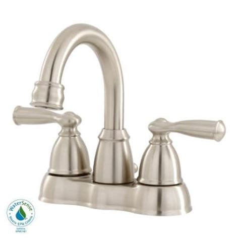Moen Bathroom Faucets Home Depot by Moen Banbury 4 In Centerset 2 Handle High Arc Bathroom