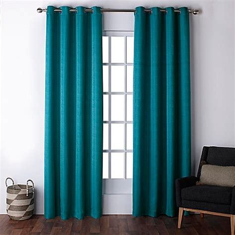 teal curtain panels buy exclusive home firenze 96 inch grommet top window