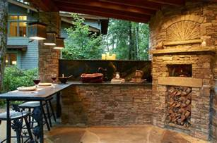 rustic outdoor kitchen ideas outdoor kitchen with wood burning pizza oven rustic patio other metro by futral construction