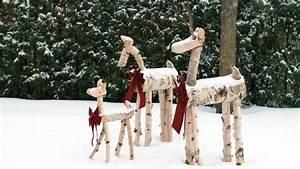 Décoration De Noel à Fabriquer En Bois : fabriquer des biches de no l d coratives deer pictures ~ Voncanada.com Idées de Décoration