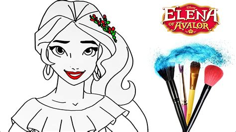 draw color elena  avalor drawing disney