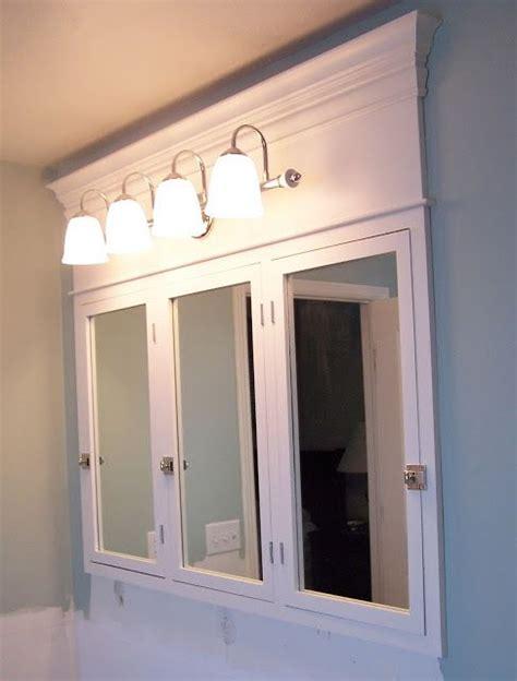 bathroom medicine cabinets ideas diy medicine cabinet we can still keep the tri fold