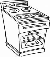 Oven Stove Coloring Clipart Pages Microwave Clip Drawing Truck Line Tow Template Household Sketch Library Pdf Templates Getdrawings sketch template