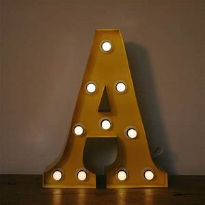 yellow a 15quot light up letter the consortium vintage With small light up letters