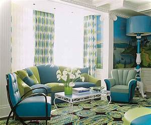 Amazing of Blue And Green Living Room Inspiration On Blue ...