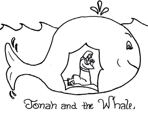 jonah and the whale coloring page story of jonah and the whale coloring page