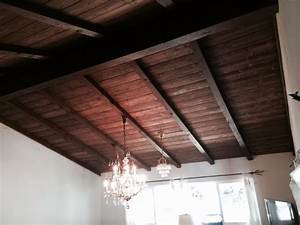 Tongue and groove ceiling - Rustic - Family Room - Los