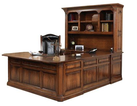 jefferson u shaped desk with optional hutch top from dutchcrafters