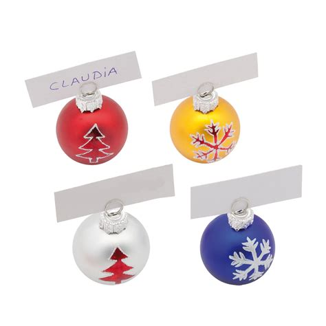 christmas baubles name holders bauble place card holders