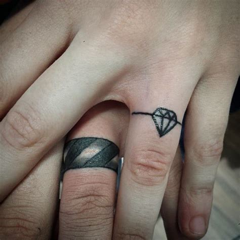 wedding ring tattoos for ideas and inspiration for guys